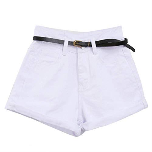 Mädchen Stretch Cuffed Shorts (Mode-Stil Frauen Denim Shorts Vintage High Waist Cuffed Jeans Shorts Street Wear Sexy Shorts Für Sommer Frühling Herbst XXL blau)