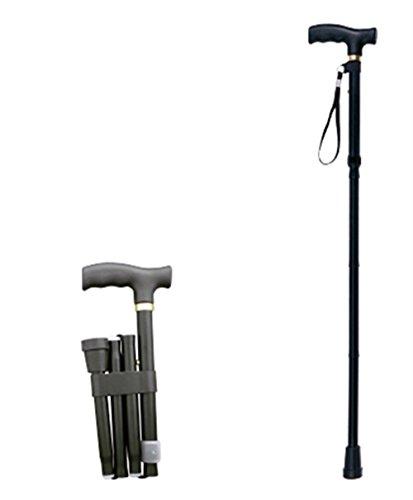Bastone da passeggio pieghevole, regolabile in nero premium qualità leggero antiscivolo unisex best mobility aids per gli anziani e disabili anziani