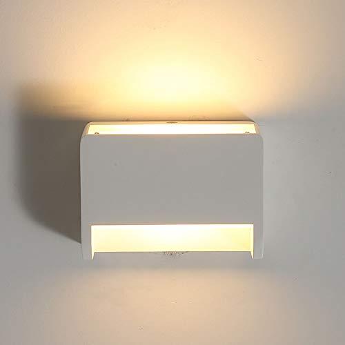 Moderne Wandleuchte Led Wand Uplighter innen Beleuchtung Lampen Wandleuchten mit schalter Lampen 7 Watt Warmweiß 2700 Karat Auf und Ab Innenstrahler Gips für Wohnzimmer Schlafzimmer Flur