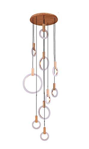 Azanaz originale lampadario a sospensione con design moderno, lampada con schermi rotondi minimalista creativo di stile nordico 11w-19w-27w