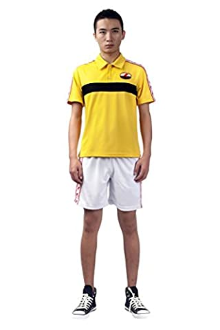 Mtxc Men's The Prince of Tennis Cosplay Rikkaidai Summer Tennis Apparel Size XXXL-Plus Yellow