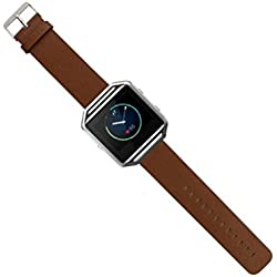 Susenstore For Fitbit Blaze Smart Watch Luxury Genuine Leather Watch band