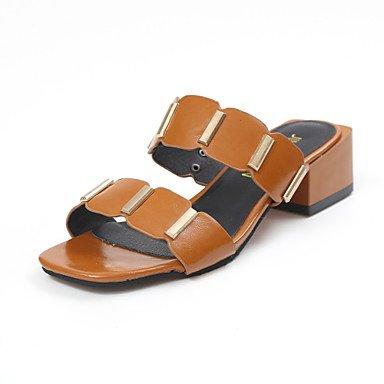 Sandales femmes robe d'été en plein air en similicuir Gladiateur Talon orteil occasionnels métallique brun foncé Noir Beige Walking Dark Brown