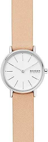 ساعة سكاجين سيغناتور للنساء مينا ابيض جلد انالوج من سكاجين - SKW2839