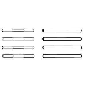Carson 500405350-Accesorios de construcción: x10eb Brazo/Eje de Acero lápices
