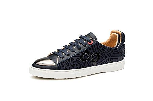 OPP Chaussures de Ville Loisir A Lacet Pour Homme Bleu
