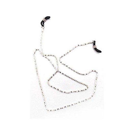 NoyoKere Mode Brillenband Lesebrille Brille Sonnenbrille Brillen Brillen Kette Hals Kabel Band Seil 65cm Weiß