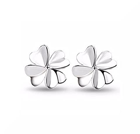 Shamrock Design Fashion Ohrstecker mit Versilbert Schmetterling