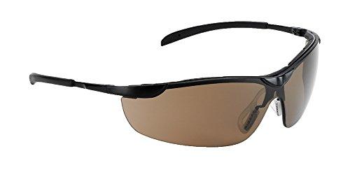 Univet 557 Metallrahmen Wrap around Schutzbrille mit braunen Gläsern