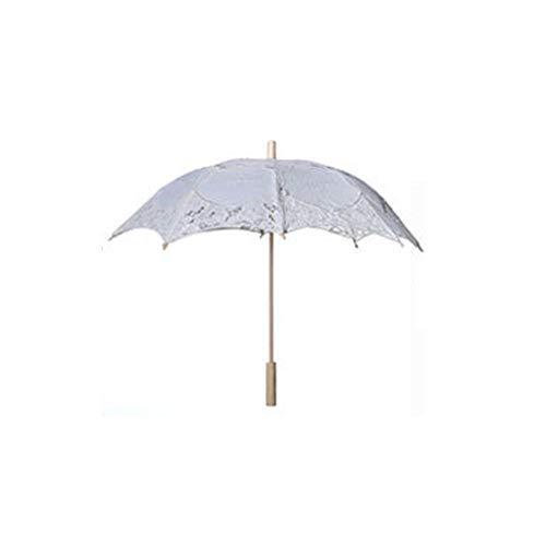 (iBaste Sonnenschirm Spitze, Spitze Sonnenschirm Regenschirm für Braut Brautjungfer Hochzeit Fotografie Prop)