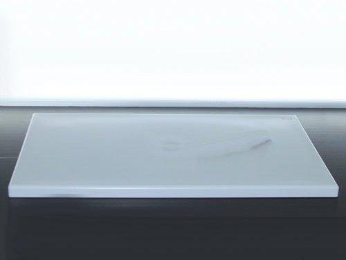 Mc di montagner tagliere con fermi polietilene 60x40x2 bianco 5640