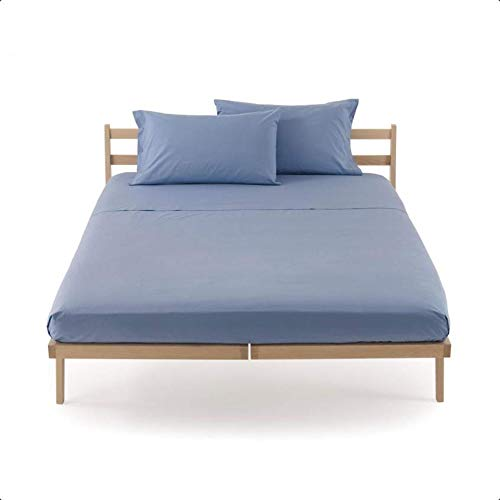 Completo letto lenzuola 2 due piazze letto matrimoniale zucchi clic clac 100% puro cotone percalle sotto + sopra + 4 federe (laguna - 3389)