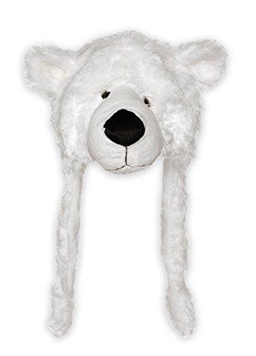 Eisbär Mütze, Bärenkopfmütze aus Velboaplüsch