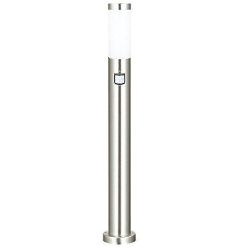 Stand Lampe Bewegungsmelder Edelstahl 1-flammig weiß Gartenhaus Hilight 103111
