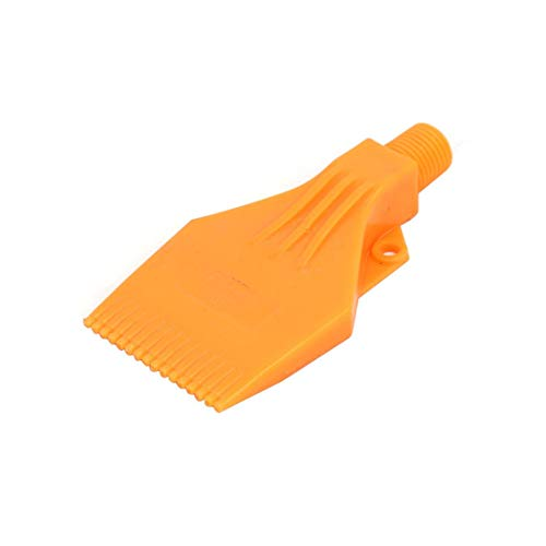 ZCHXD 1/4BSP Male Thread ABS Double Hole Air Blow Off Flat Jet Nozzle Orange -