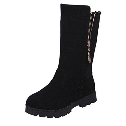 Women Boots ,MEIbax Women Buckle Ladies Faux Warm Knight Boots Flat Martin...