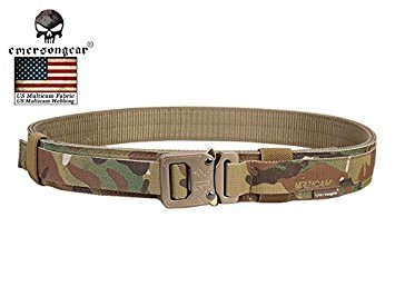 Generic 110cm Emerson Hartschale 3,8cm Shooter Gürtel Militär Armee Gürtel Taille Unterstützung Airsoft Tactical Gürtel Multicam em9250M L XL (Shooter-gürtel)