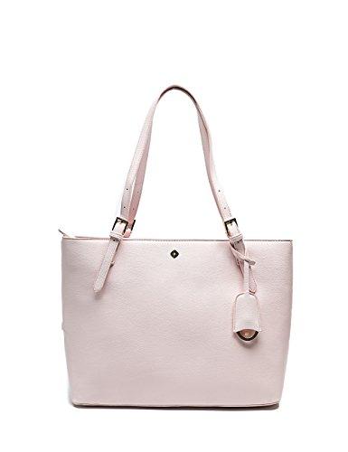 Miss Fong Handtasche Damen, Umhängetasche Leder Tasche Shopper Henkeltasche für Damen Schultertasche mit im Taschenorganistator und RFID-Blockierung (rosa)
