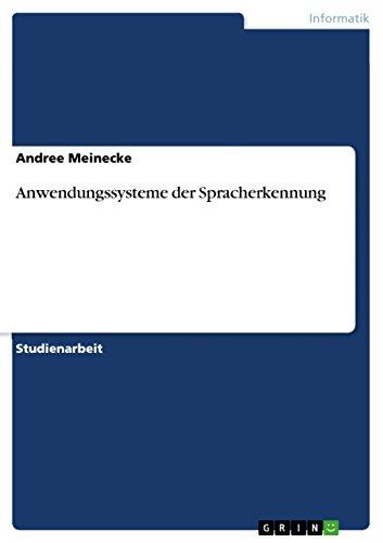 Anwendungssysteme der Spracherkennung