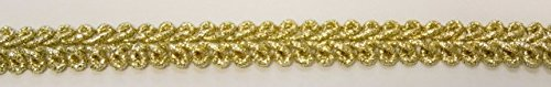 16,40m Posamentenborte 10mm breit Farbe: helles Lurex-Gold Bullet-C-lt.Gold