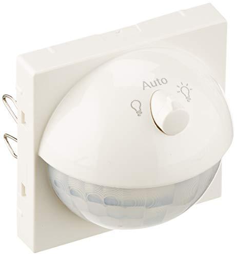 Merten MEG5711-0319 Argus 180 UP Sensor-Modul mit Schalter, polarweiß glänzend, System M, Weiß