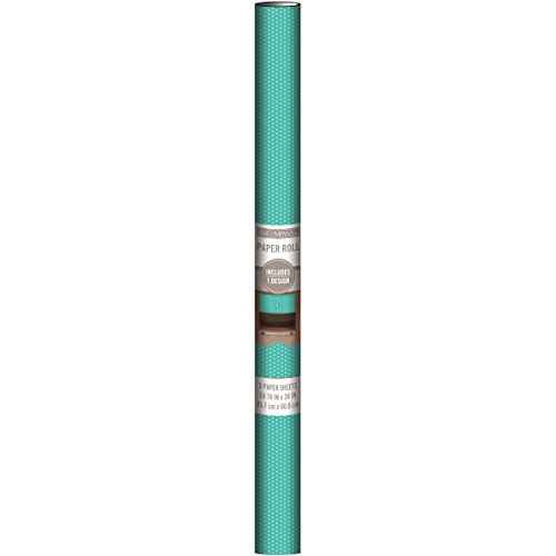 Deko Papier Blatt 45,7x 61cm 3/Pkg-Teal Dot -