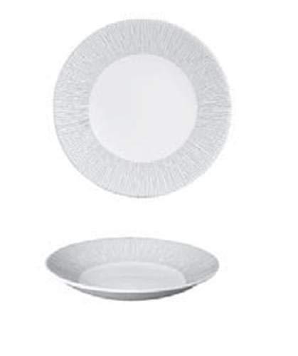 Churchill Assiette Plate Profonde bordée Blanche en Porcelaine diamètre 28 cm Ligne Bamboo 12 pièces