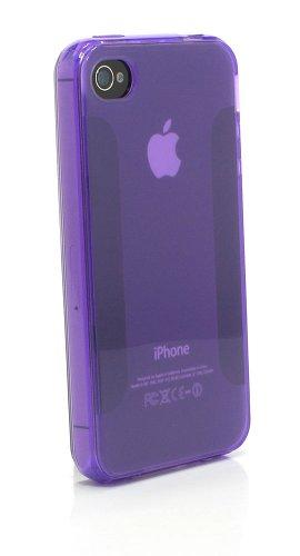 XAiOX exklusive transparente TPU Hülle für Apple iPhone 4 und iPhone 4s Ultra leicht - lila Lila