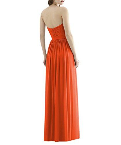 Ssyiz -  Vestito  - plissettato - Donna Orange