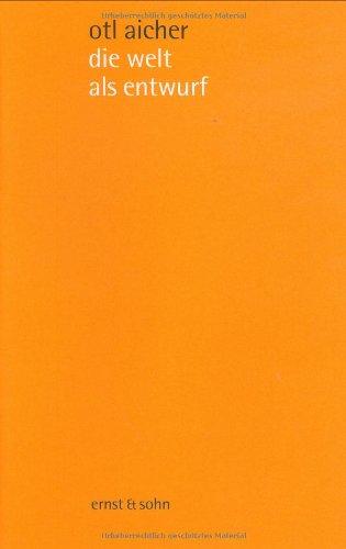 die welt als entwurf: schriften zum design Buch-Cover