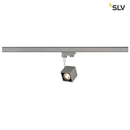 SLV 152324 Altra Dice Spot, angulaire, gris argenté/noir, GU10, max. 50 W, avec 3p.-adapter, en aluminium, gris argenté/noir,