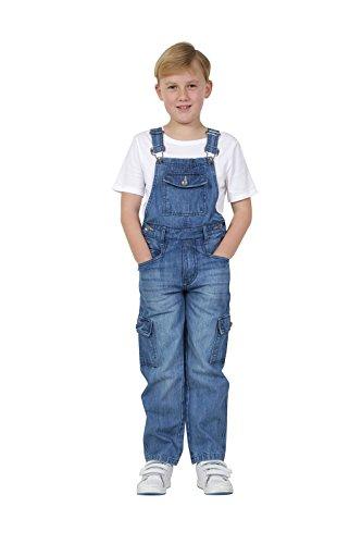 USKEES Benjamin Kids Palewash Denim Dungarees Age 4-14 Childrens Cargo Overalls BENJAMINPW-6 Years