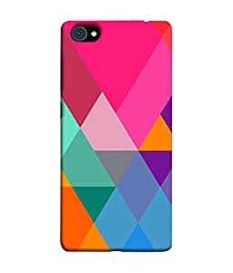 FUSON Designer Back Case Cover for Vivo X7 (Abstract Painting Colored Triangles Acrylic Painting)
