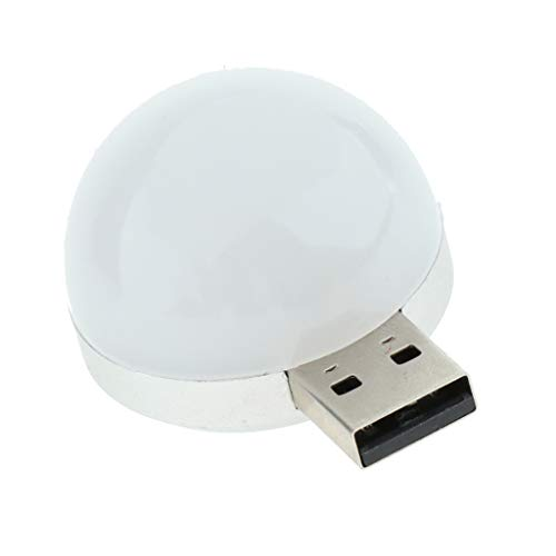 perfk LED USB Lampe Licht Leuchte Leselampe Buchlampe für Notebook Laptop PC Computer - Weiß
