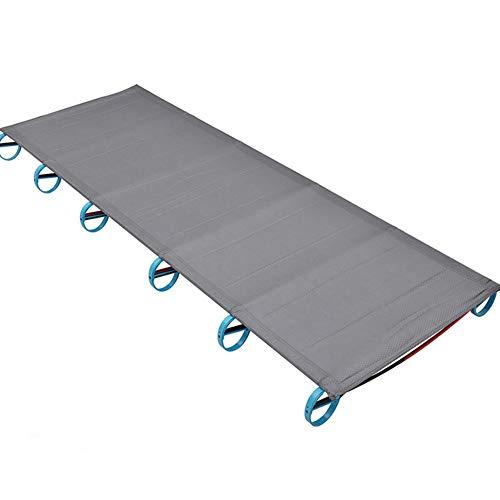 CQ Tragbar Campingbett für Außenbereich Ultraleicht Aluminium Einzel Klappbett