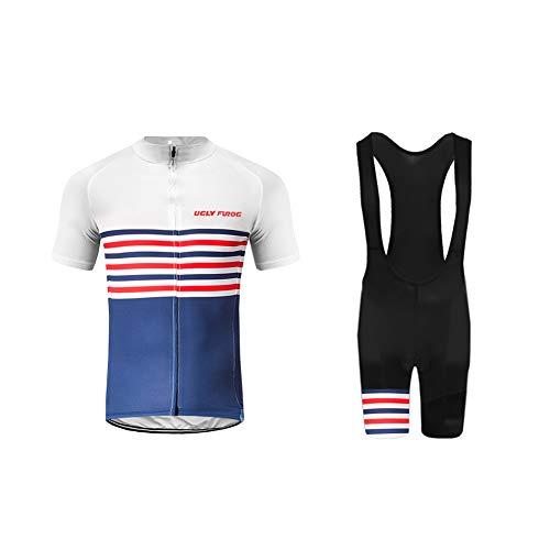 Uglyfrog rennrad Trikot Herren Anzug Quick Dry Kurzarm Fahrrad Jersey + Shorts Set Atmungsaktiv für Outdoor Racing
