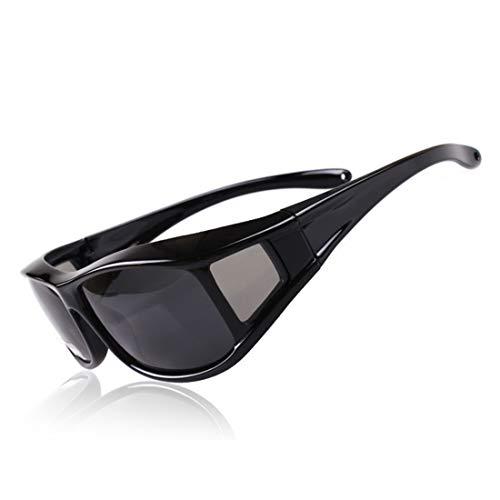 Retro Vintage Sonnenbrille, für Frauen und Männer Classic Black Polarized Sport Sonnenbrille Männer Frauen for Outdoor Radfahren Baseball Laufen Angeln Golf Klettern UV-Schutz (Farbe : Schwarz)