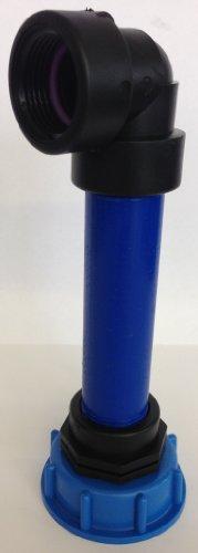 Manchon cMS60290R84 avec tube en plastique 100 mm dN32 aG 1, 90°, conteneur iBC adaptateur-- --cANISTER fitting