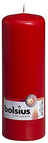 Bolsius Outdoor/Indoor Pillar Candle 200x70mm - Red