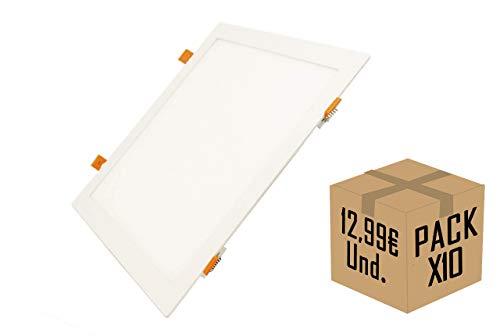 FactorLED Pack x10 Placa LED Slim Cuadrada 30W