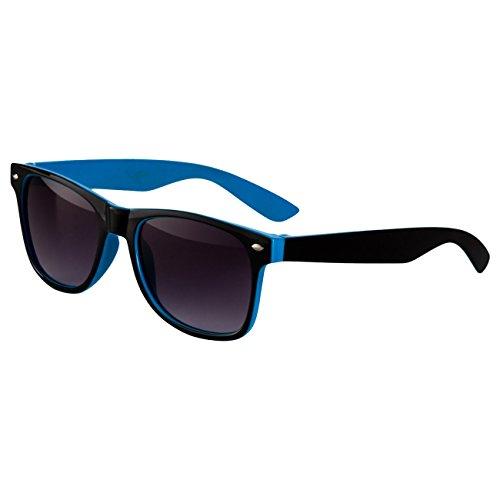 Ciffre Sonnenbrille Nerdbrille Nerd Retro Look Brille Pilotenbrille Vintage Look - ca. 80 verschiedene Modelle Türkis Schwarz