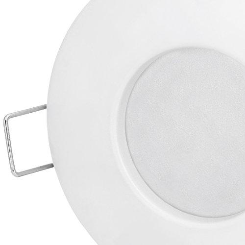LED Einbau-Strahler Set [6 Stück] Decken-Leuchte, Typ RW-1 in weiß für Feuchträume Bad Dusche IP65, 6W WARM-weiß 230V [IHR VORTEIL: leichter EINBAU, tolle LEUCHTKRAFT, LICHTQUALITÄT und VERARBEITUNG] für Innen Außen – #980 - 5