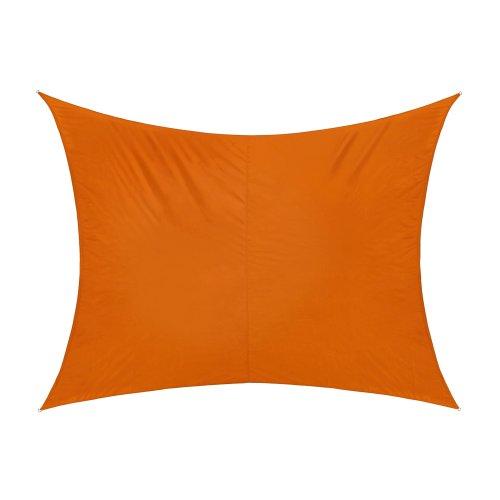 Jarolift Sonnensegel Rechteck wasserabweisend, 300 x 200 cm, orange
