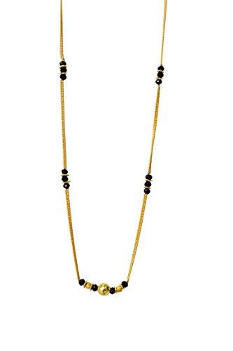 GirlZ! American Diamond (AD) Trendy Daily Wear Office Wear Chain Mangalsutra for Women