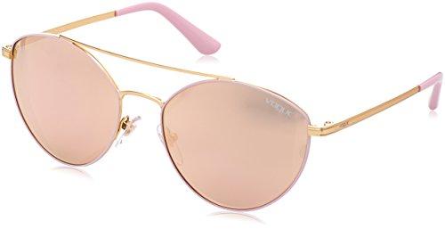 Vogue Eyewear Damen 0VO4023S 50245R 56 Sonnenbrille, Matte Pink/Gold/Greymirrorrosegold