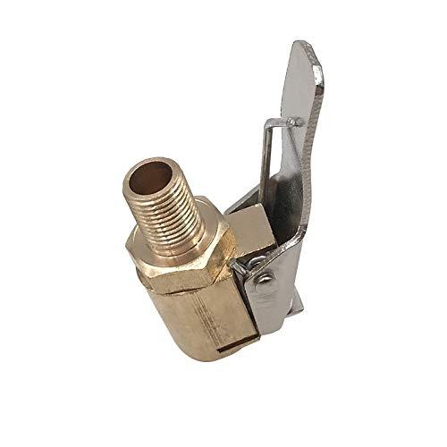 NO LOGO HYCSP 1PC Auto Auto Messing 8mm-Reifen-Rad-Reifen-Luft Chuck Inflator Pumpe Ventil Clip Clamp-Stecker-Adapter Auto-Zubehör for Kompressor (Farbe : Type 1)