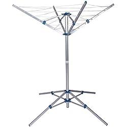 Séchoir-parapluie mobile Sèche-linge extérieur en aluminium Pliable Réglable en hauteur Camping
