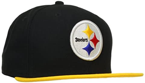 NFL Pittsburgh Steelers Black and Team Color 59Fifty Fitted Cap, Black/Gold, 7