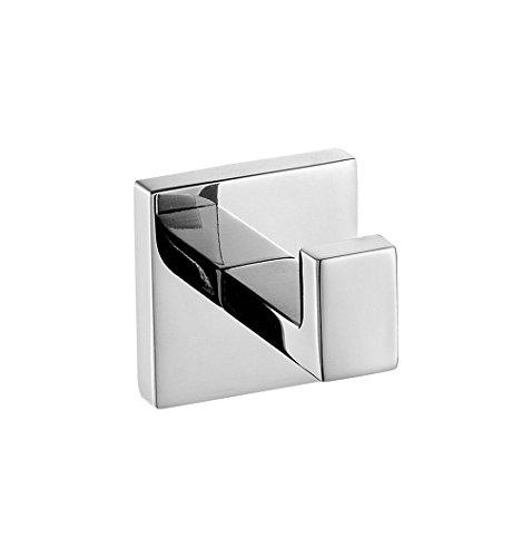 Weare Home Kleiderhaken SUS304 Edelstahl zur Wandmontage Bad-Serie Quadrat poliert für Kleidung Hüte und Mäntel -