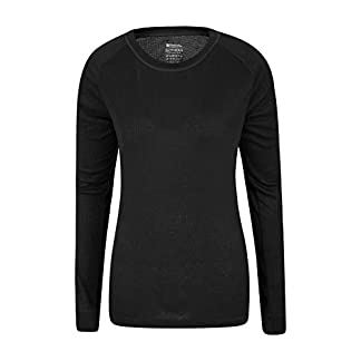 Mountain Warehouse Talus Womens Long Sleeves Baselayer Top - Thermal Underwear, Lightweight Ladies Tee Shirt, Breathable, Easy Care - for Winter 3